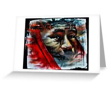 Face on a Wall Greeting Card
