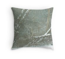 Silent Snowy Woods Throw Pillow