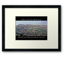 Wonderful Wollongong Framed Print