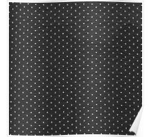 Vintage black and white cute polka dots pattern Poster