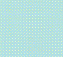 Vintage girly blue yellow cute polka dots pattern by Maria Fernandes