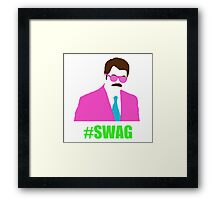 Swagga Ron Swanson Framed Print