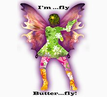 Fly..... Butter...Fly Womens Fitted T-Shirt