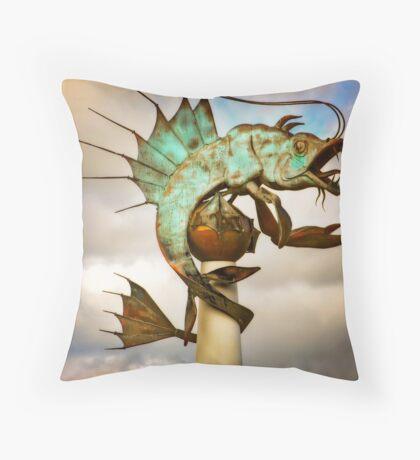Barbican Prawn Throw Pillow