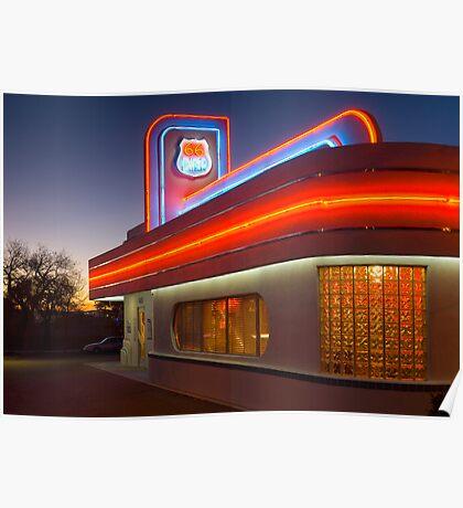 USA. New Mexico. Albuquerque. Route 66 Diner. (Alan Copson ©) Poster