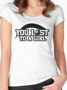Women's pool T-shirt (black) Women's Fitted Scoop T-Shirt