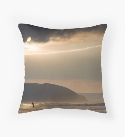 Kite boarder Throw Pillow