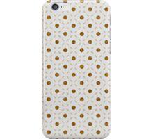 White gold faux glitter dots geometrical pattern iPhone Case/Skin
