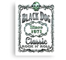 BOTTLE LABEL - BLACK DOG Canvas Print