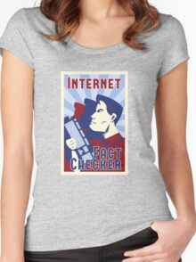 Internet Fact Checker Women's Fitted Scoop T-Shirt