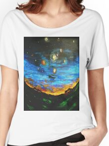 Country Starry Night Women's Relaxed Fit T-Shirt