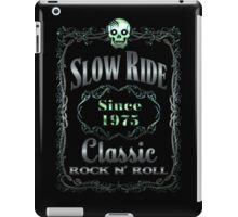 BOTTLE LABEL - SLOW RIDE iPad Case/Skin