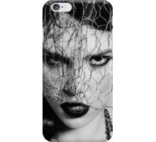 Woman with iron veil iPhone Case/Skin