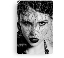 Woman with iron veil Canvas Print