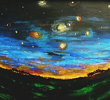 Country Starry Night by George Hunter