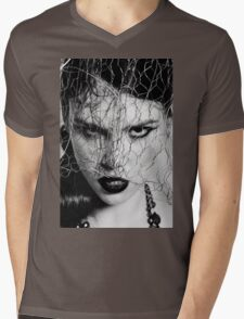 Woman with iron veil Mens V-Neck T-Shirt