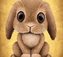 Cute Brown Baby Bunny Rabbit  by Jeff Bartels