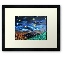 Mountain Starry Night Framed Print