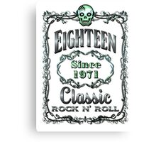 BOTTLE LABEL - EIGHTEEN Canvas Print