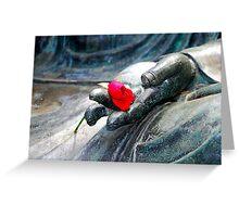 Buddha Rose Greeting Card