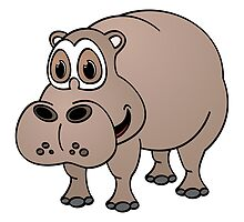 Hippo Cartoon by Graphxpro