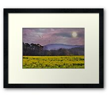Purple Mountains, Purple Sky Framed Print