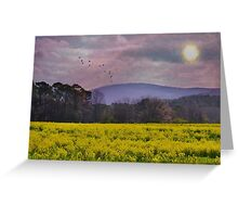 Purple Mountains, Purple Sky Greeting Card