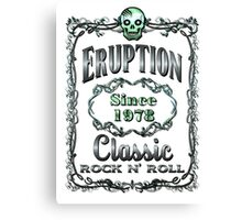 BOTTLE LABEL - ERUPTION Canvas Print
