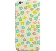 Vintage pink green abstract floral pattern iPhone Case/Skin