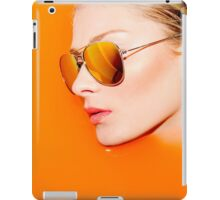 Woman with sunglasses submerged in water  iPad Case/Skin