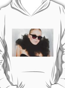 Woman with sunglasses submerged in water  T-Shirt