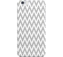 Modern simple black white chevron zigzag pattern  iPhone Case/Skin