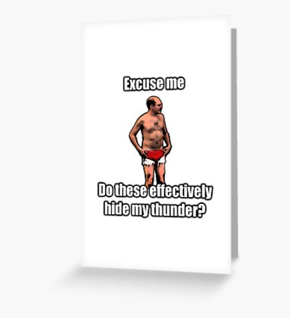 Tobias The Never nude Greeting Card