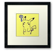 Pikachu? Framed Print