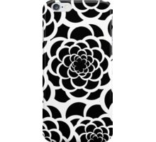 Abstract black and white modern floral pattern iPhone Case/Skin