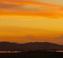 Sunset over the Hume Weir  by D-GaP