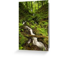 Gibson Mill Waterfall Greeting Card