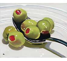 Olives on a Spoon Photographic Print