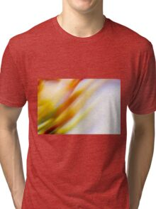 Abstract brilliant colorful abstract in yellow and white  Tri-blend T-Shirt