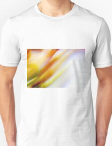 Abstract brilliant colorful abstract in yellow and white  Unisex T-Shirt
