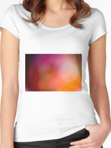 Abstract brilliant colorful abstract in red Women's Fitted Scoop T-Shirt