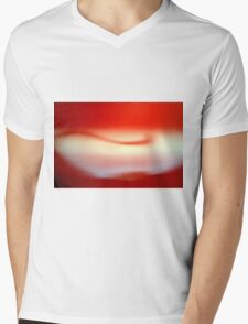 Abstract brilliant colorful abstract in red Mens V-Neck T-Shirt