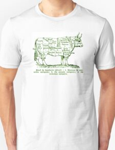 Diagram of French Beef Cuts Unisex T-Shirt