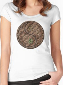 Capricorn & Goat Yin Earth Women's Fitted Scoop T-Shirt