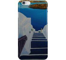 Upstairs Downstairs to Santorini Caldera iPhone Case/Skin