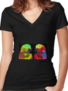 Late Night With Ashley (Magnus Ver Magnusson) Women's Fitted V-Neck T-Shirt
