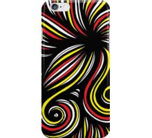 Pippen Abstract Expression Yellow Red Black iPhone Case/Skin