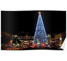 Israel, Haifa, The city is lit up with Christmas decorations Poster