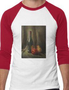 Still life of wine and fruit Men's Baseball ¾ T-Shirt