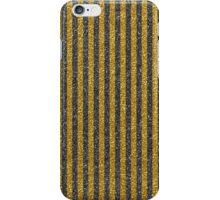 Modern vintage black gold glitter effect stripes iPhone Case/Skin